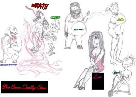The 7 Deadly Sins, Personafied by burnt-animator