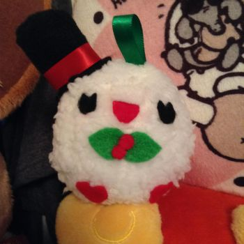 Snow Rowlet Christmas Ornament by sorjei