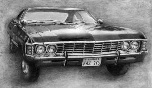 Supernatural Chevy Impala 1967 by AnnaSulikowska