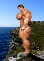 Muscle on a Cliff by n-o-n-a-m-e