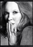 Mia Farrow. As strange as its gets by depoi