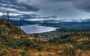Kelowna from Cedar Mtn Park by DTherien