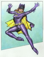 Batgirl from the Batman TV show - RIP Yvonne by Reverie-drawingly