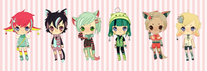 FLASH AUCTION 24 HRS lil bab adopts~{open} by tea-bunnie