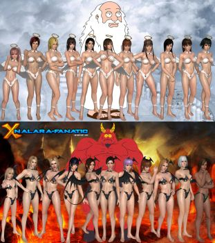 DOA5LR - Steamy Angels and Demons for XNALara/XPS by XNALara-Fanatic
