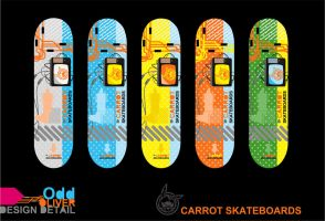 CARROT SKATEBOARDING DESIGNS by MolefaceNZ