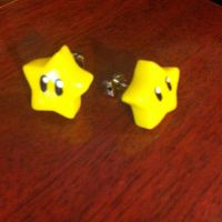 Mario Star Stud Earrings by NevermindNicholas