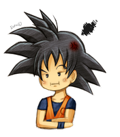 pouty Goku is pouty by mosaicvirus