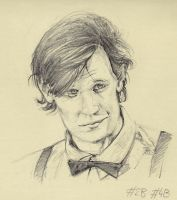 Moleskin Sketch: Eleventh Doctor by Montaneous