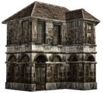 Haunted House 07 PNG Stock by Roy3D