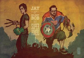 Jay and Silent Bob Get Super Powers! by cheshirecatart