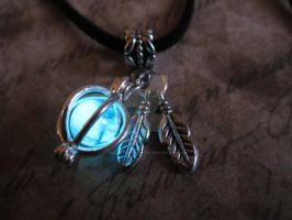 Mystic Glow in the Dark Native American Pendant by MammaShaClothing