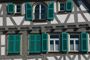 Green-on-Grey Half-Timbered by DeviantTeddine