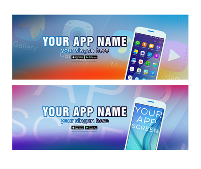 2 Mobile App Facebook Cover .PSD by AlbaniaGraphicDesign