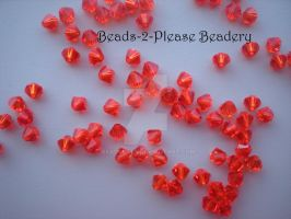 4mm Hyacinth Swarovski Crystal Bicone Beads by beadclass