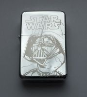STAR WARS - LORD VADER - engraved lighter by Piciuu