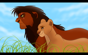 King Kovu and Queen Kiara by Wolf-Chalk