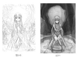 Draw it again - 2010 vs 2011 by El-Seluvia
