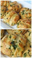 Hungarian Spinach, Cheese and Bacon Biscuits by Kitteh-Pawz
