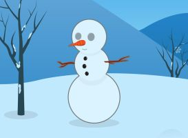 Snowman freebie by Bendsen