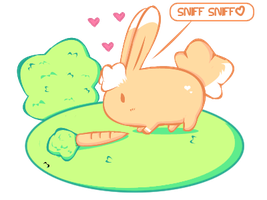 Cute bunny and carrot by anicsim2