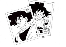 Dragonball Z-  Foto Son Goku Before -After by TriiGuN