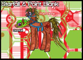 Point Blank and Starfall by KyuubiNight