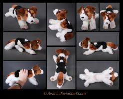 Plushie Commission: Traveller the Dog by Avanii