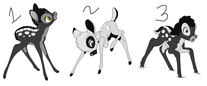 Candor Deer Adopts :.OPEN.: by GothicRockerGirl