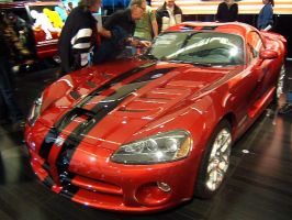 Dodge viper with stripes 2 by Skyline-Fan