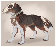 Skull Dog Adopt - Sold by whitepup