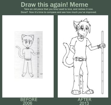 Before and After Meme: Leo by Inkbound