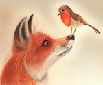 The fox and the Robin by SonARTic