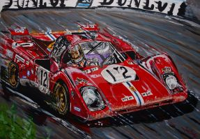 Legendary driver Tony Adamowicz in the Ferrari 512 by JuanCMendez