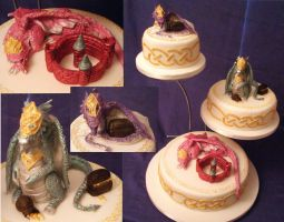 Celti Dragons Cake by Dragonsanddaffodils