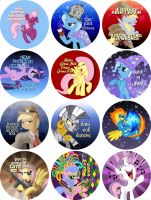 Pony Buttons by tygerbug