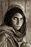 Afghan Girl by AmBr0