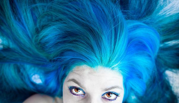 I Have Blue Hair, Not Blue Eyes by lizzys-photos