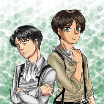 Levi and Eren by Sora-chan10