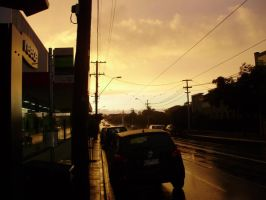 Melbourne Street Dawn 2 by loneantarcticwolf