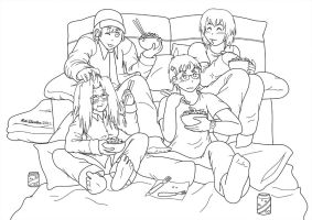Comforting Sleepover by HomunculusLover