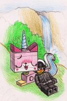 Good Cop and Unikitty by killb94