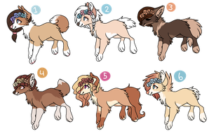 flower crown adoptables - batch 2 CLOSED by samiesaurus