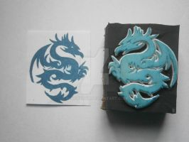 Dragon Rubber Stamp by XluciferXX