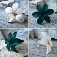 Polymer Clay- Jasmine and Lily by juditithil