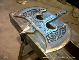 Skyforge Steel Battleaxe: Head by SaronniSimon