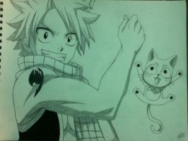 Natsu and Happy by k4too