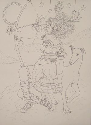 The Goddess Artemis :lineart: