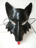 Wolf Leather Mask by Lara-Mila