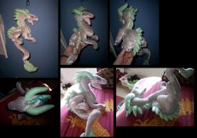 Silver dragon plush:: by goiku